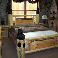 Queen Carved Bear Post Bed $1099