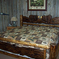 Chainsaw-Carved Slab Bed King $1299