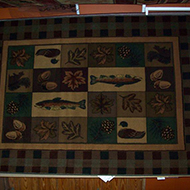Fish, Acorn, Pine Cone and Leafs Rug